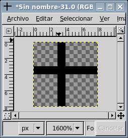 Dibuja una cruz